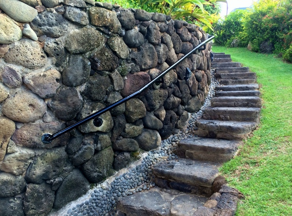 Adding Railing to Stone Walls