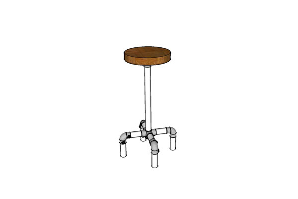 Antique Metal Pipe Stool Plans