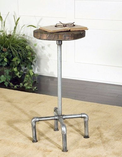 Antique Metal Pipe Stool
