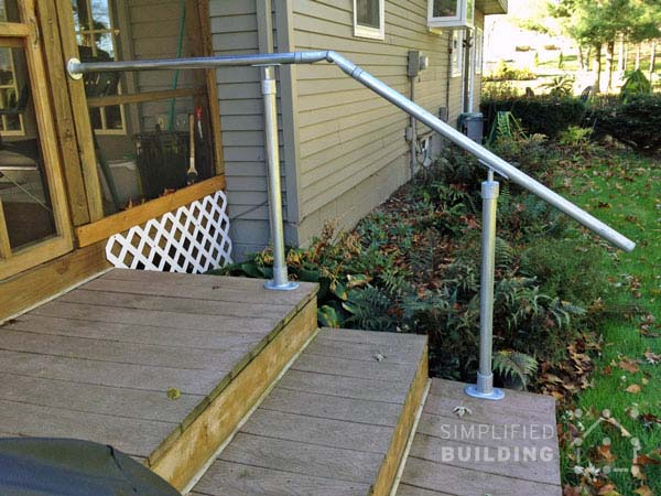 Back Steps Deck Railing