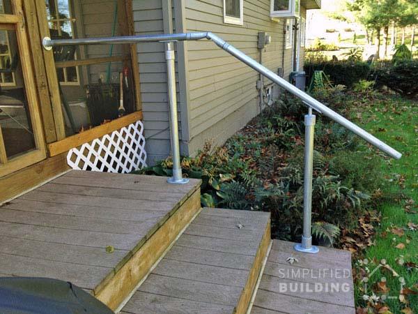 Back Steps Deck Railing