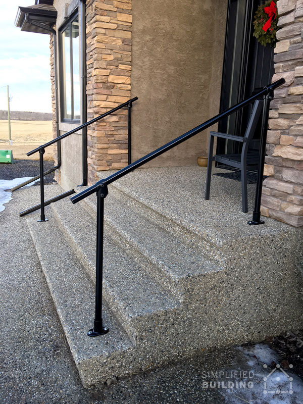 Bon Jacob Installed This Railing For One Of His Customers To Allow Easy Access  Up And Down The Stairs In Front Of This Gorgeous Home. Jacob Appreciated  The Ease ...