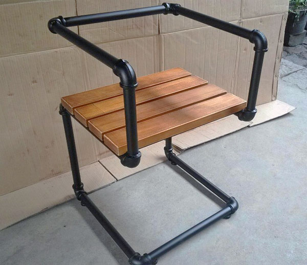 Industrial Pipe Furniture. Black Pipe Chair Industrial Furniture Simplified  Building