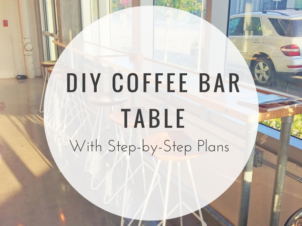 DIY Coffee Bar Table