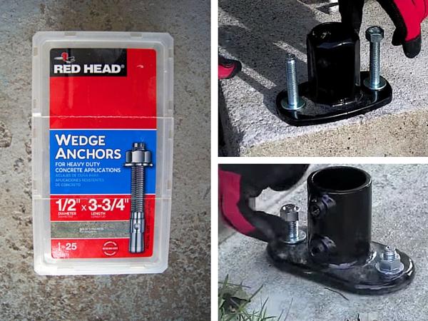 Concrete Wedge Anchors Diagram