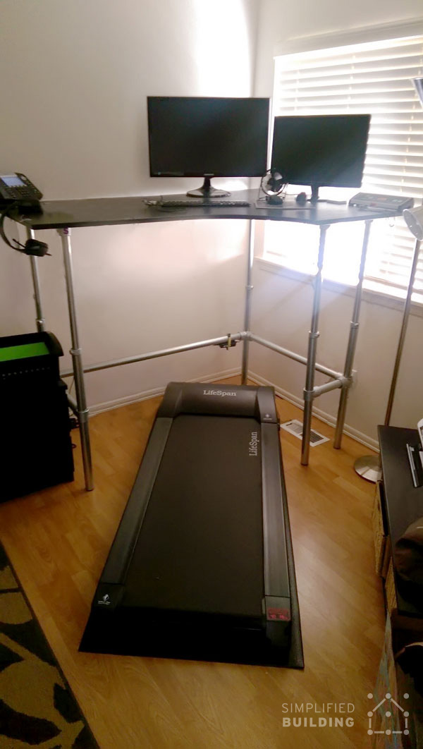 Corner Treadmill Desk