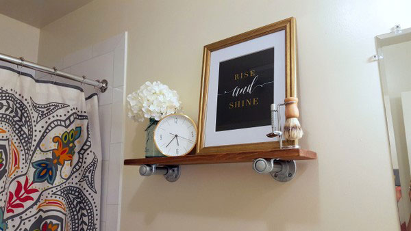 DIY Bathroom Shelf