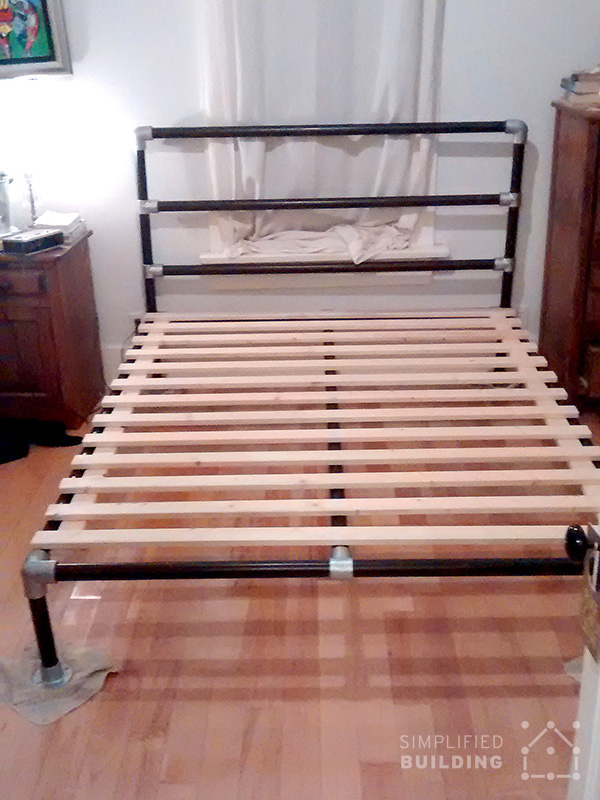 how to build a bed frame out of wood