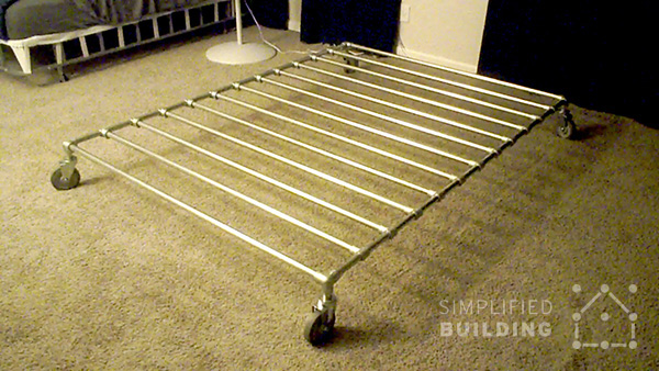 this low profile bed frame was built by jason in mountain view california the bed frame features integrated casters making the bed easy to move when - Easy Diy Bed Frame