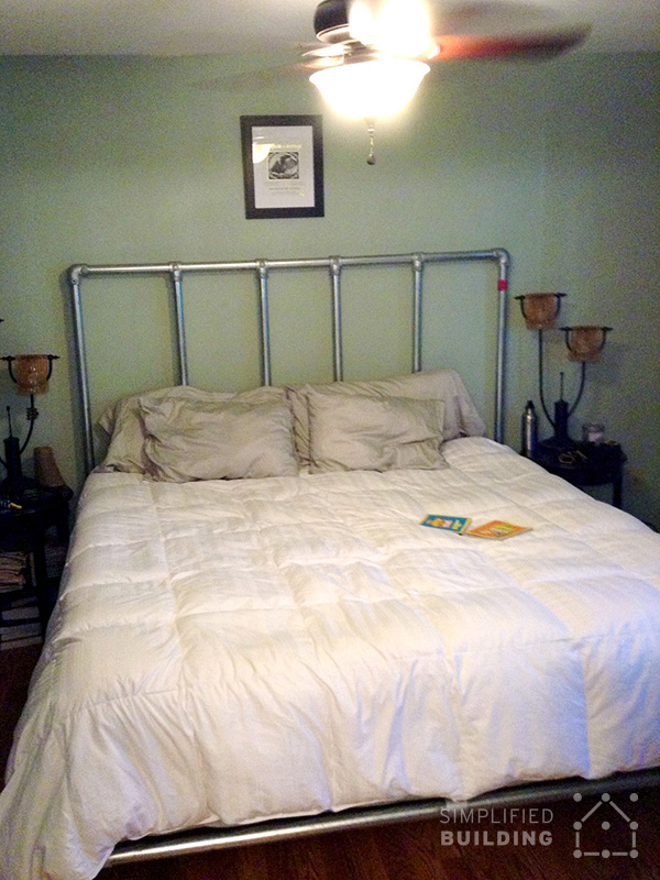 47 diy bed frame ideas built with pipe simplified building this bed frame was built by mark from eagle river alaska after being referred to our site from his sister the frame uses size 7 kee klamp fittings and solutioingenieria Image collections
