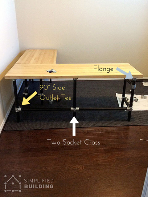 Diy Butcher Block Desk Simplified Building