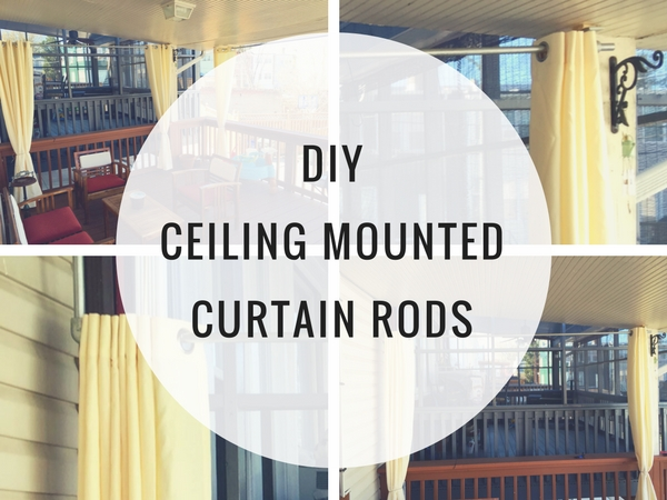 DIY Ceiling Mounted Curtain Rods
