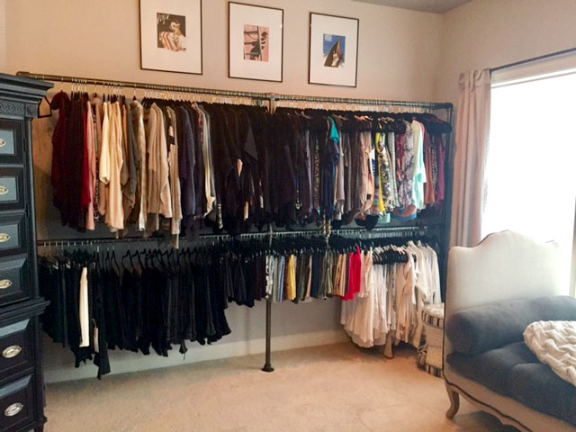 DIY Closet System Built with Pipe & Fittings (Plans ...