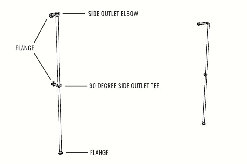 Two-Tier Clothing Rack Plans