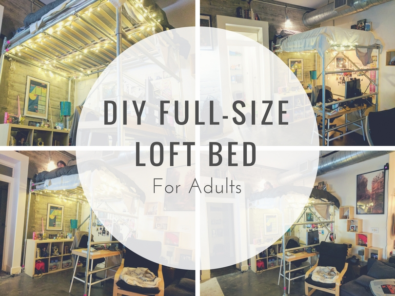 DIY Full-Size Loft Bed for Adults