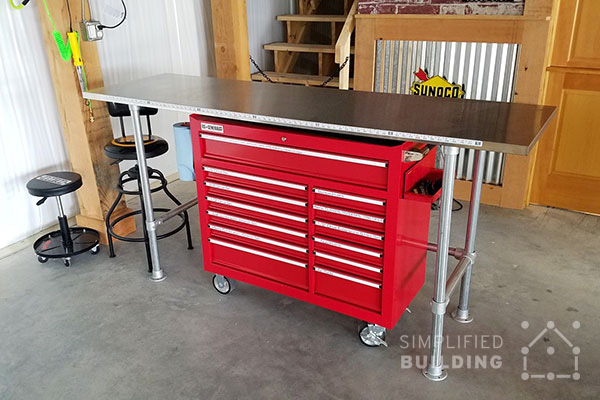 How to Build a Garage Workbench – Simple Garage Workbench Plans