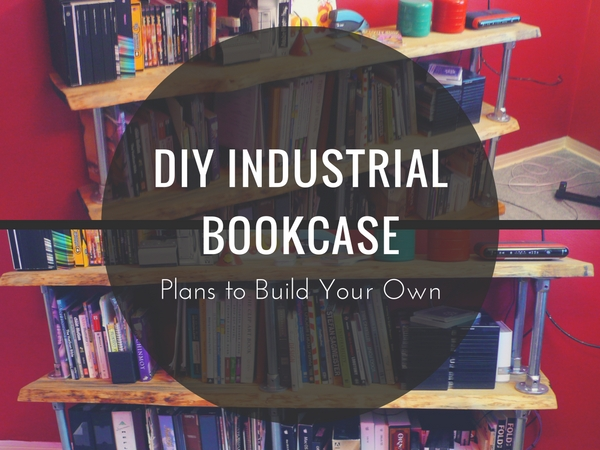 DIY Industrial Bookcase