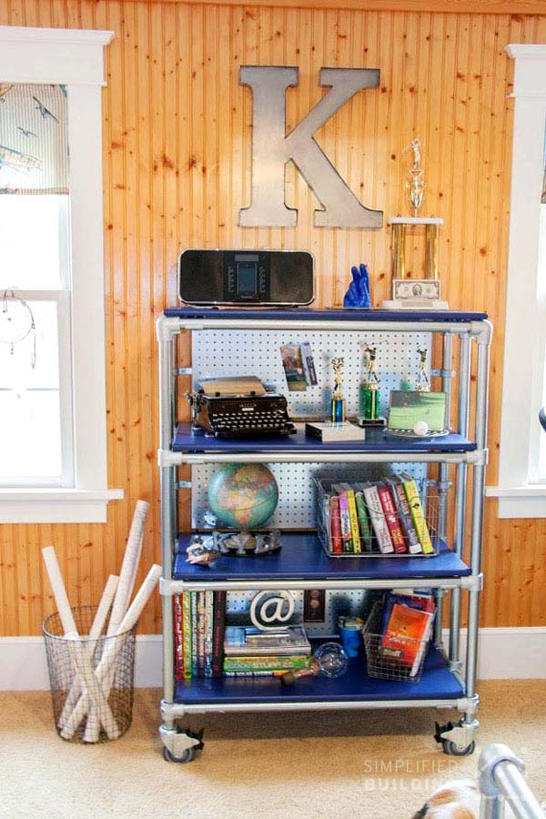 DIY Rolling Bookcase