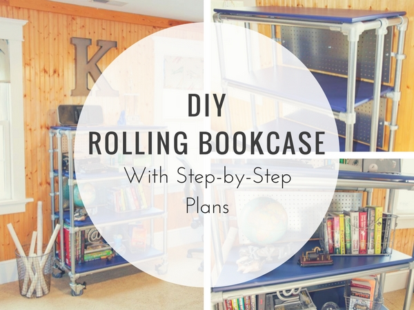 DIY Rolling Bookcase with Step-by-Step Plans