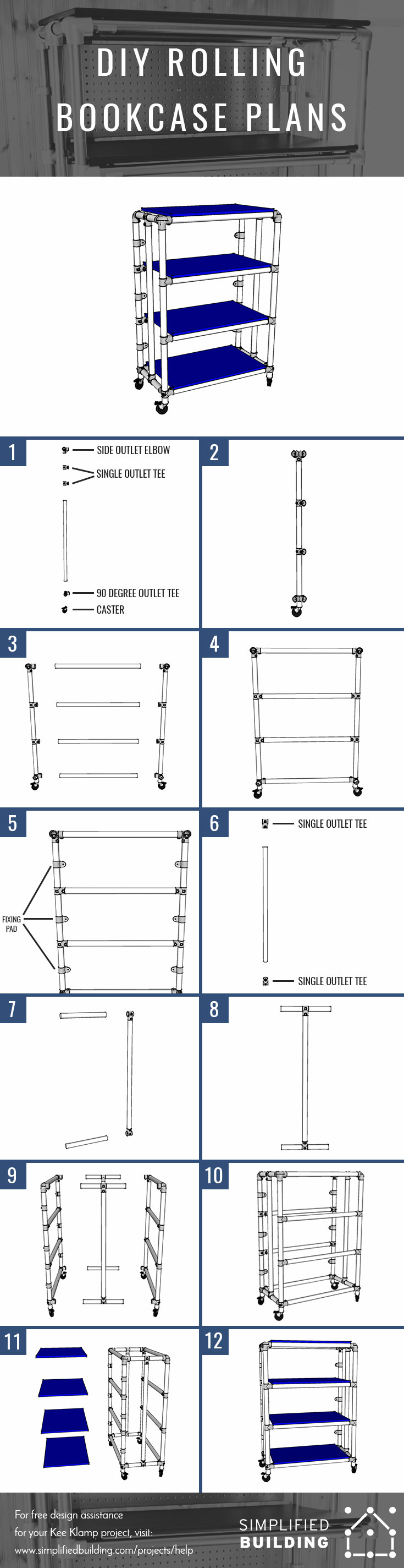 Rolling Bookcase Plans