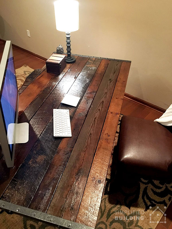 Diy rustic desk plans to build your own simplified building Diy work desk