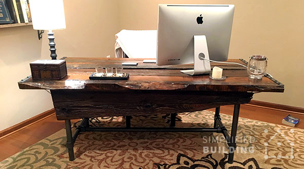 Diy rustic desk plans to build your own projects Diy home office desk plans