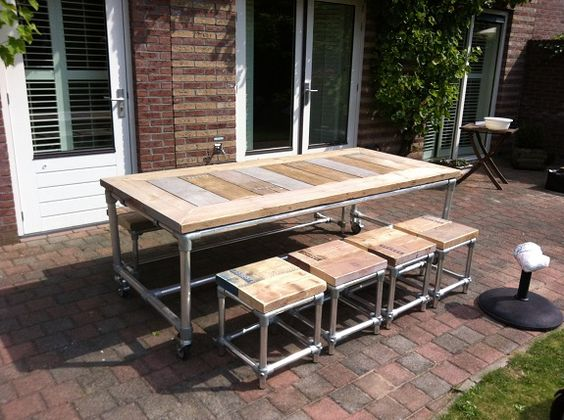 Rolling Patio Table