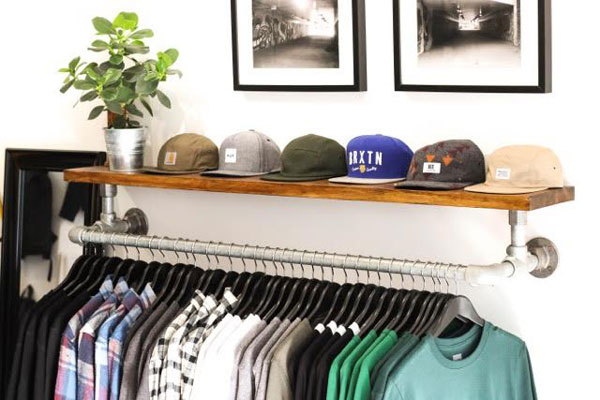 Diy Wall Mounted Clothing Rack With Top Shelf Simplified