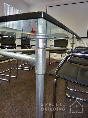 Glass Top Conference Table