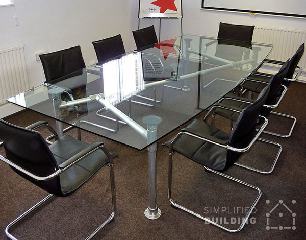Modern Conference Table Ideas Simplified Building - Glass top conference room table