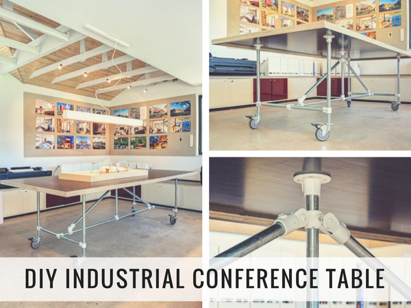 DIY Industrial Conference Table