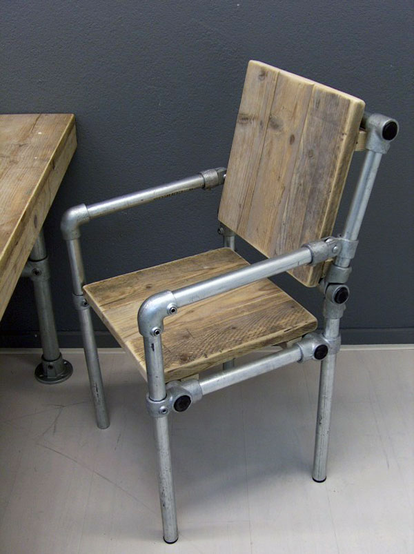 Industrial Pipe Furniture Throughout Industrial Pipe Chair Style Chairs How To Build Them Simplified Building