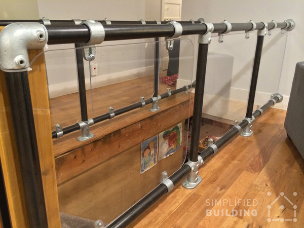 Industrial Styled Railing For Loft Living Simplified