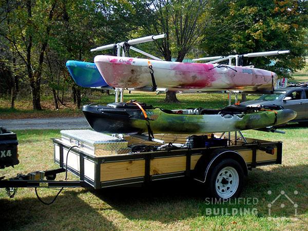 Build Your Own Kayak Trailer: Utility Trailer Conversion ...