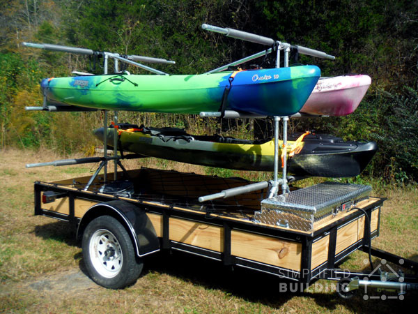Build Your Own Kayak Trailer Utility Trailer Conversion