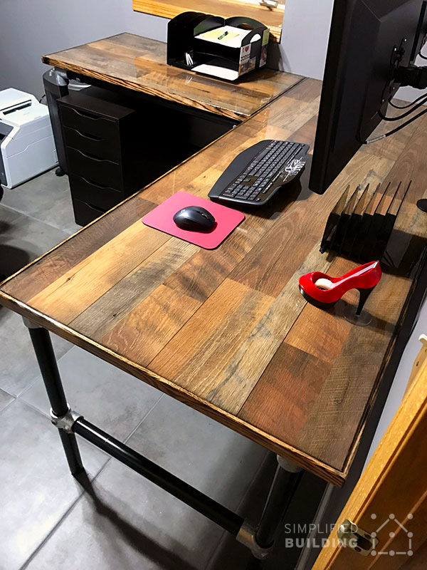 Hardwood Flooring Table Top Desk