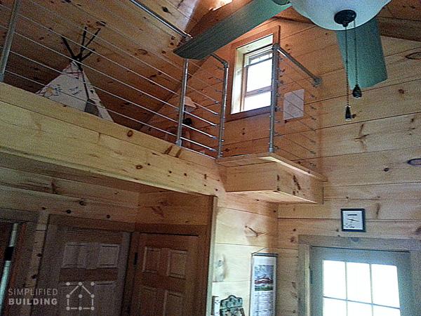 Loft Railing for a Rustic Home