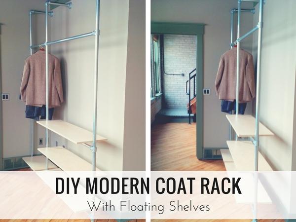 DIY Modern Coat Rack