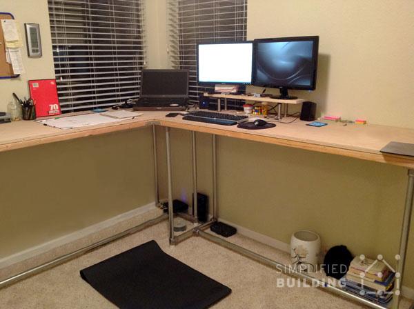 multiple monitor desk