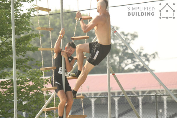 Obstacle Racing Ladder Climb