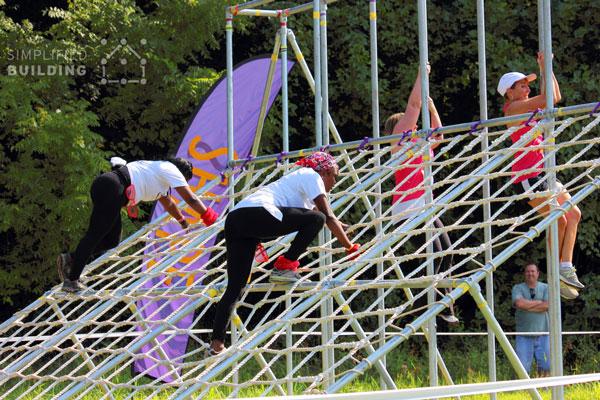 Obstacle Racing Net Climb