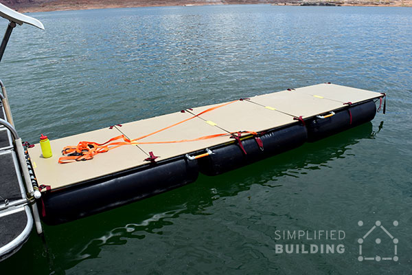 Diy portable floating dock simplified building diy portable floating dock portable dock solutioingenieria Image collections