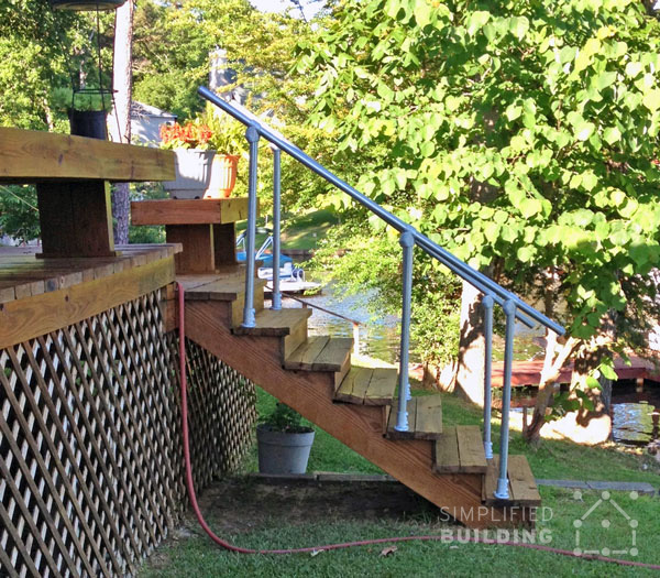 Railing for Back Deck - Side View