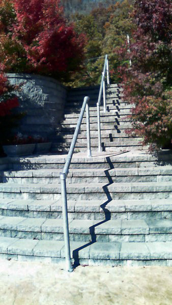 how to build a handrail for concrete steps