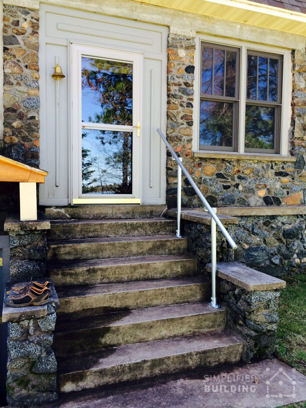 Simple Sturdy Exterior Stair Railing Simplified Building