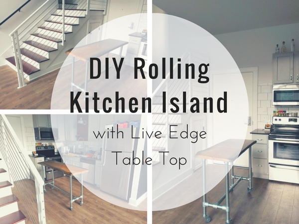 DIY Rolling Kitchen Island