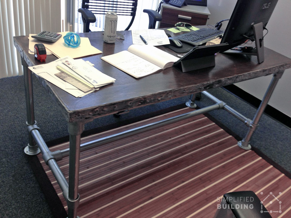 Rugged Butcher Block Desk