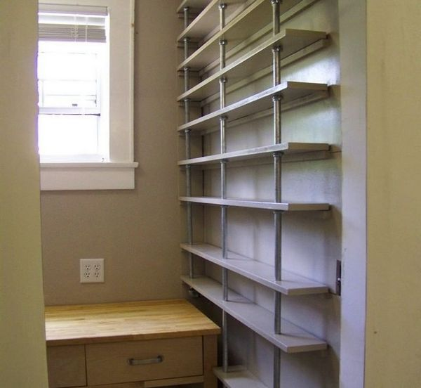 building a pantry cabinet storage ideas | 59 DIY Shelf Ideas Built With Industrial Pipe | Simplified ...