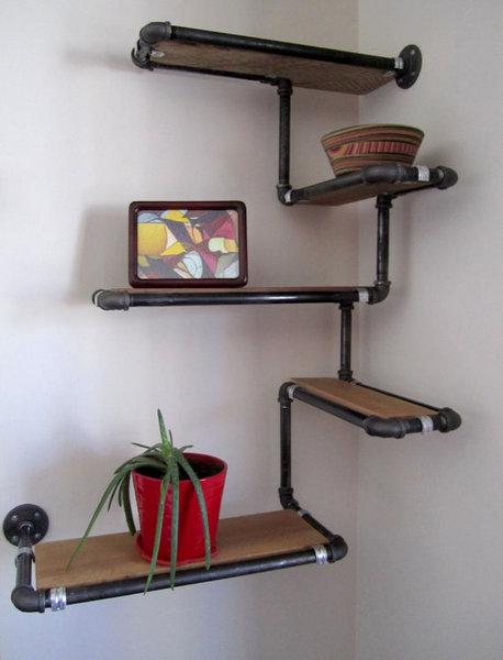 59 diy shelf ideas built with industrial pipe simplified building rh simplifiedbuilding com Galvanized Pipe Shelves Galvanized Pipe Shelves