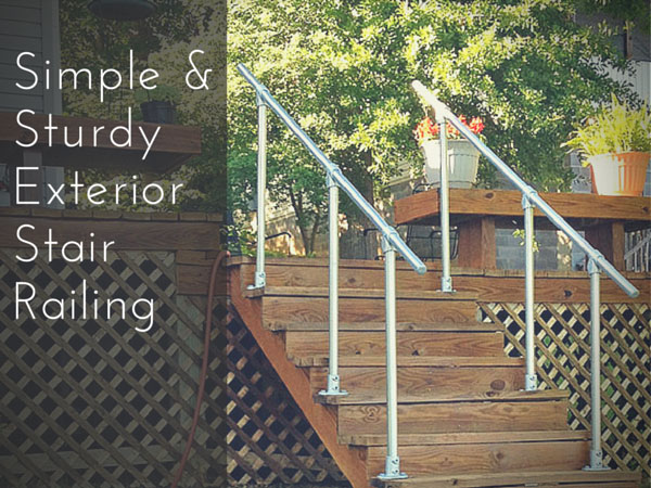 Simple & Sturdy Exterior Stair Railing